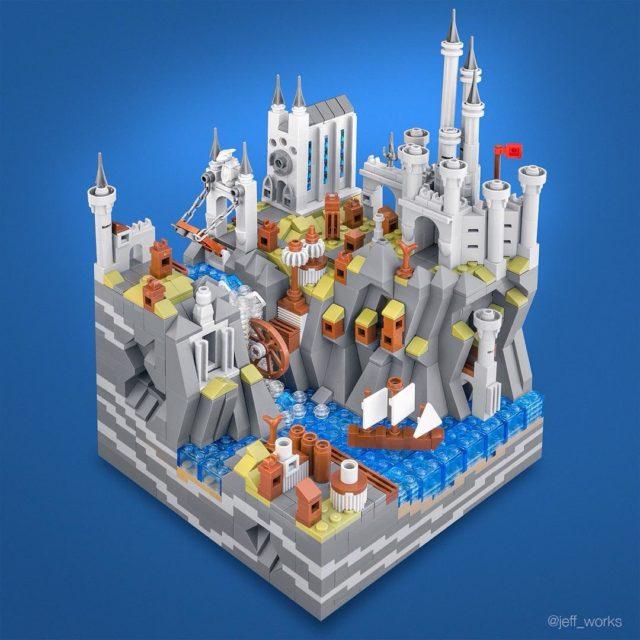 LEGO Medieval City microscale