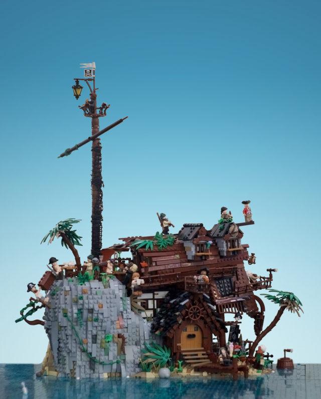 LEGO Pirates bateau échoué