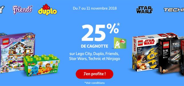 Promo LEGO Auchan 2018 novembre