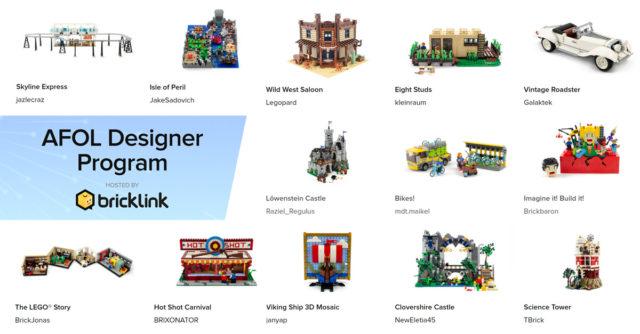 LEGO Bricklink AFOL designer program