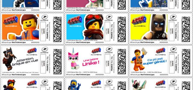 La Poste Timbres LEGO Movie 2