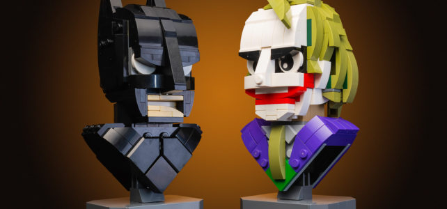 Batman and The Joker LEGO busts
