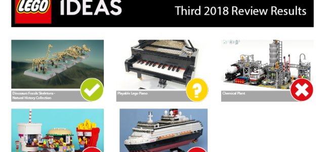 LEGO Ideas Third 2018 projets retenus