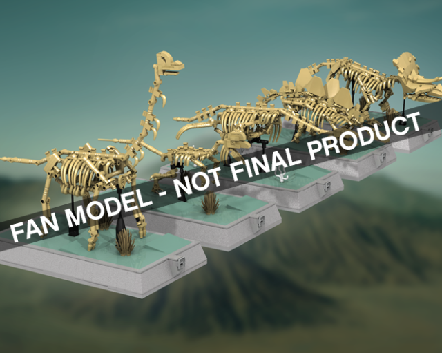LEGO Ideas squelettes dinosaures