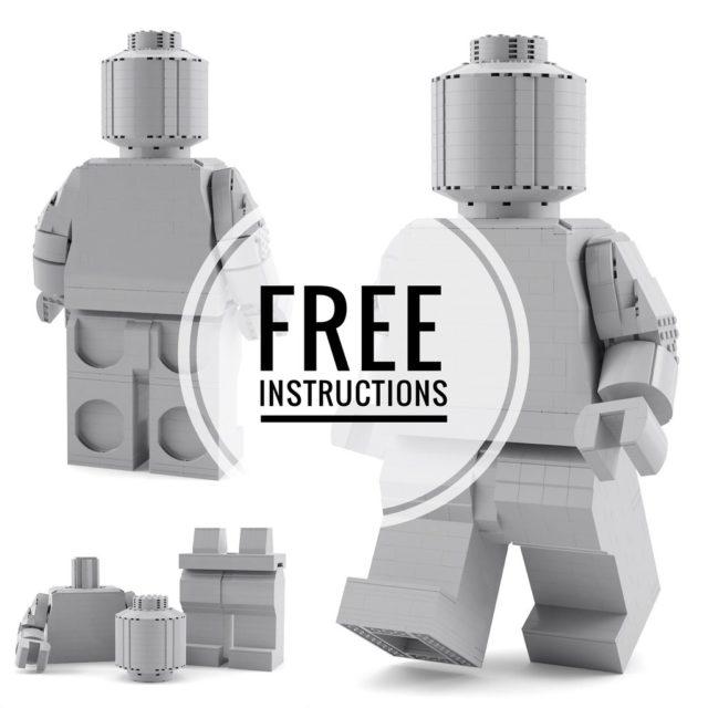 Minifig LEGO géante instructions gratuites