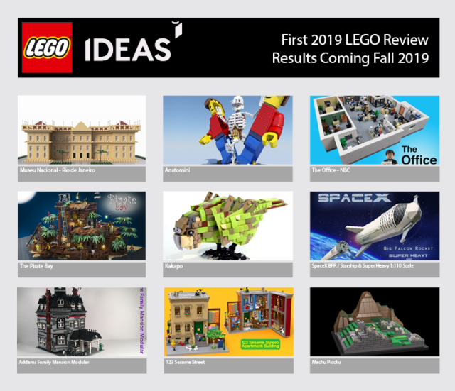 Projets LEGO Ideas First 2019