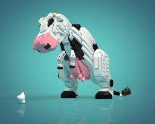 Tyrannocow (T-cow) T-Rex vache