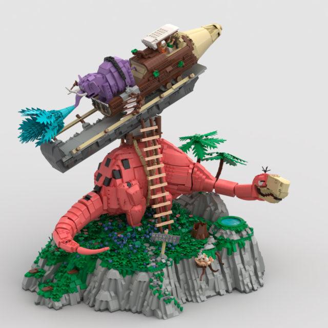 Flintstones Mammoth Rocket Ride Pierrafeu