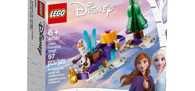 Chez LEGO : le set Frozen II 40361 Olaf's Traveling Sleigh à nouveau offert
