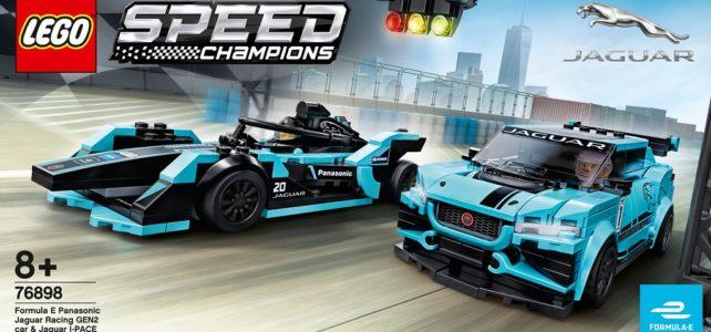 Nouveauté LEGO Speed Champions 2020 : LEGO 76898 Formula E Panasonic Jaguar Racing GEN2 car & Jaguar i-PACE eTROPHY