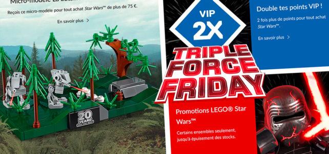 Triple Force Friday et nouveautés LEGO Star Wars : c'est parti !