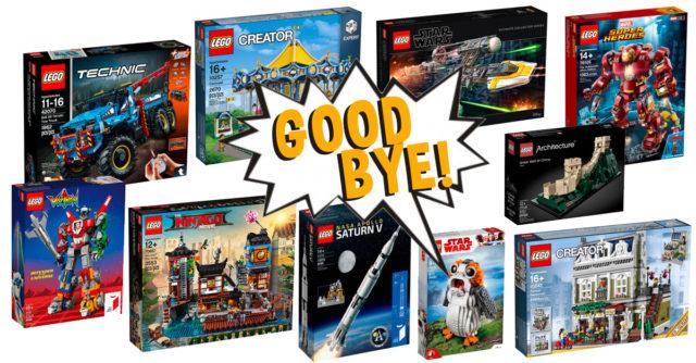 LEGO sets retirés 2019