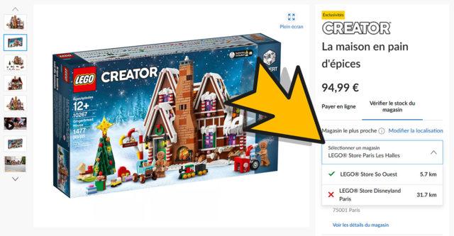 LEGO Shop stock