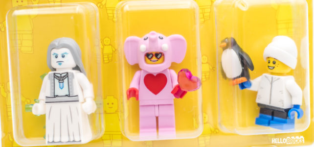 Pack minifigs LEGO Store 2020 elephant rose
