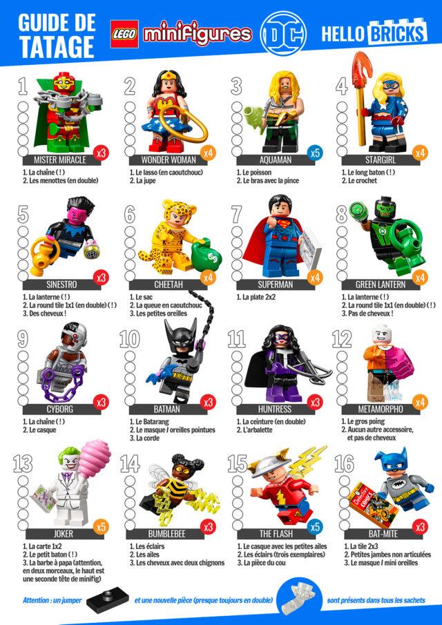Guide tatage LEGO 71026 DC Comics