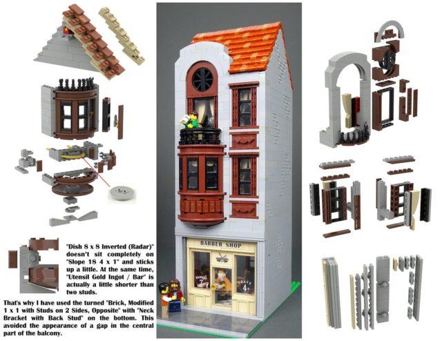 LEGO Modular Barbershop