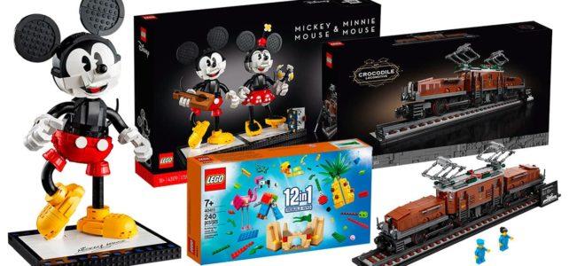 Chez LEGO : la loco 10277 Crocodile Locomotive et le duo 43179 Mickey & Minnie sont disponibles, avec un set 12 en 1 et des polybags offerts