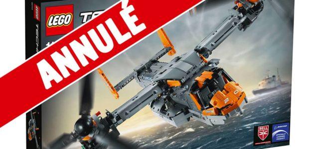Le set LEGO Technic 42113 Bell Boeing V-22 Osprey est officiellement annulé à 10 jours de sa sortie !
