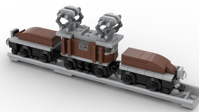 Micro LEGO 10277 Crocodile Locomotive