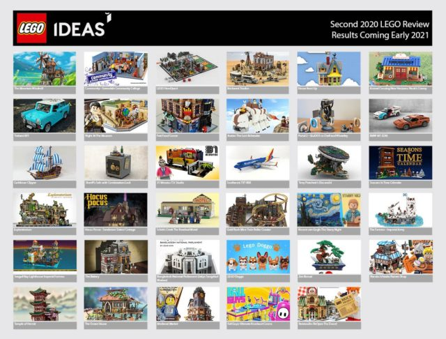 LEGO Ideas 2020 phase 2 record