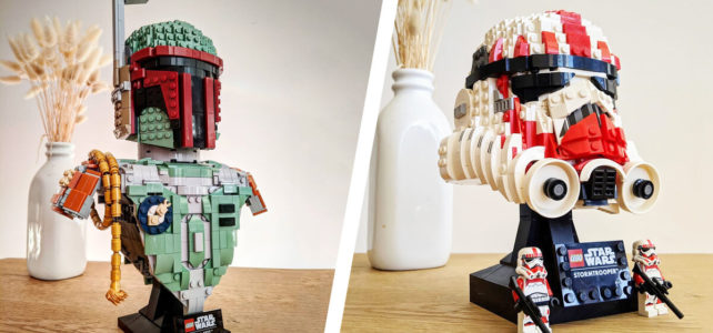 LEGO Star Wars Boba Fett bust Shock Trooper helmet