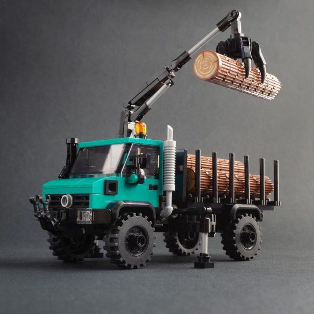 LEGO Unimog 437 with Hiab