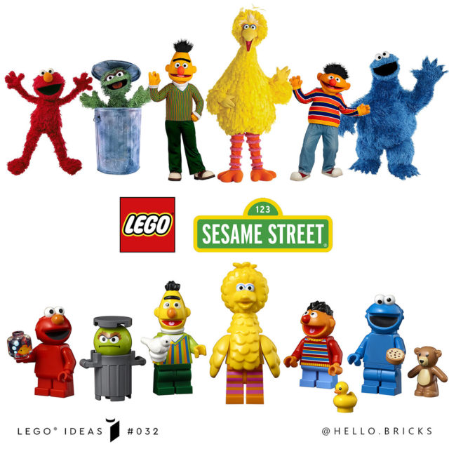 LEGO Ideas 21324 123 Sesame Street minifigures comparison