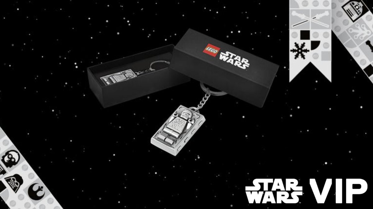 LEGO Star Wars 5006363 Han Solo Carbonite Metal Keychain GWP