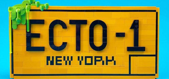 LEGO 10274 Ecto-1 plaque