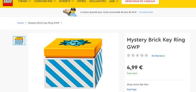 LEGO 5006463 Mystery Brick Key Ring GWP