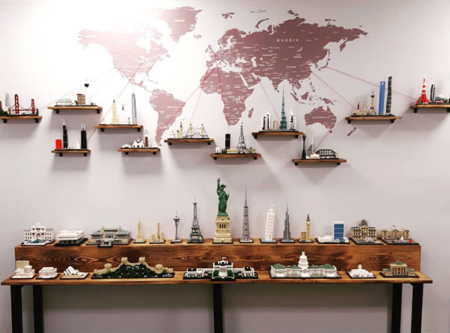 LEGO Architecture wall display