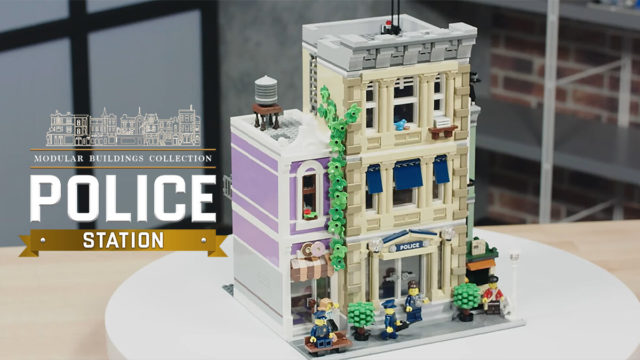 LEGO 10278 Police Station modular video designer