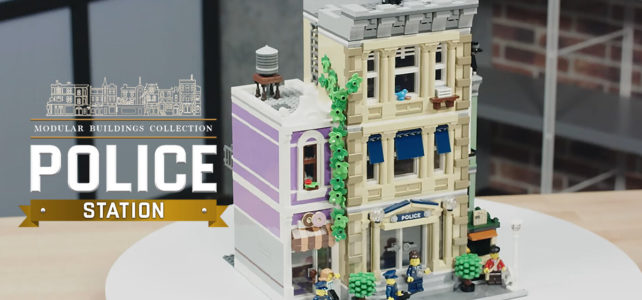 LEGO 10278 Police Station modular video designer