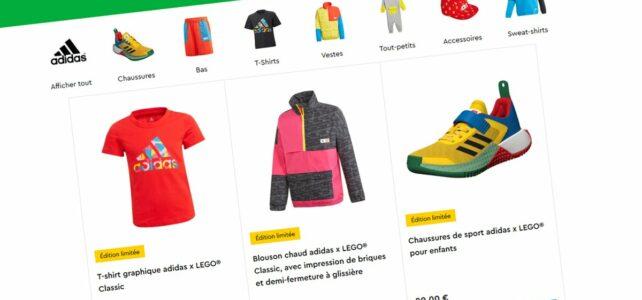 Sur le Shop LEGO : la collection LEGO x Adidas est disponible
