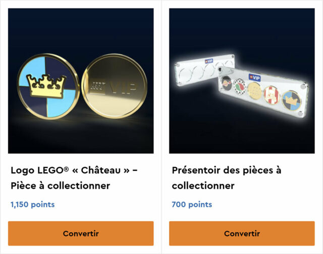 LEGO VIP Collectible Coins Castle 2021
