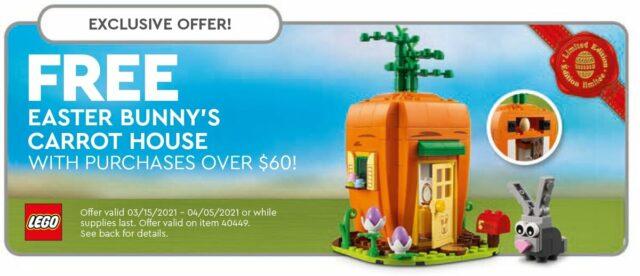 LEGO 40449 Easter bunny GWP