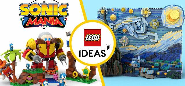 Bientôt chez LEGO Ideas : Sonic Mania Green Hill Zone et La Nuit Etoilée de Vincent van Gogh
