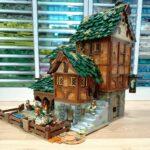 LEGO MOC medieval barn