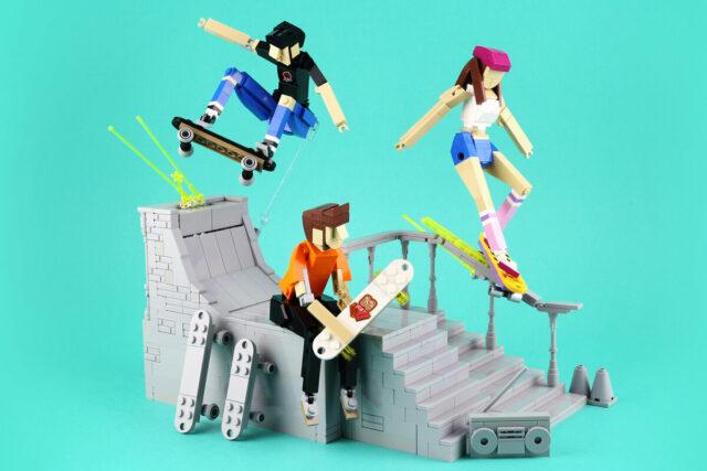 LEGO MOC tribute to youth skateboarding