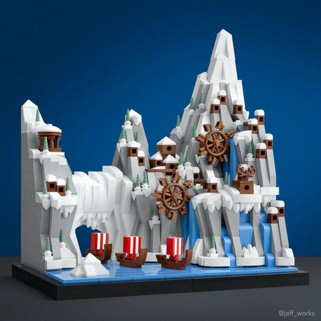Vikings village LEGO microscale