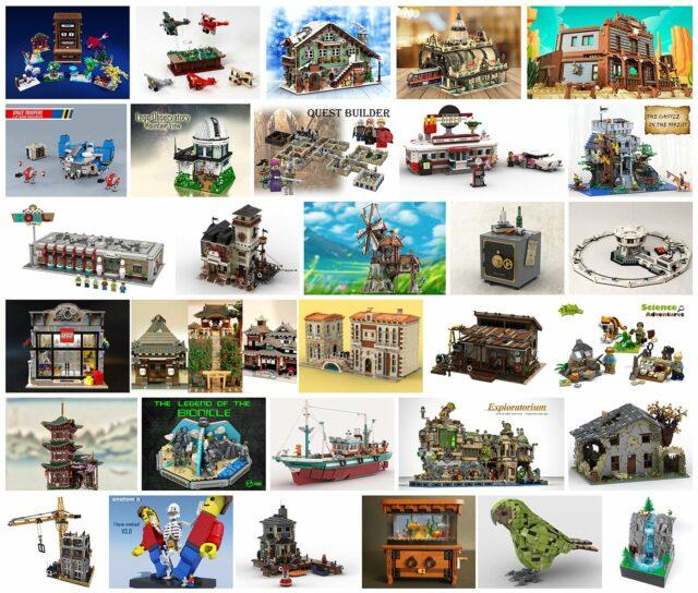 LEGO Ideas Bricklink Designer Program projets
