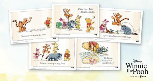LEGO Ideas Winnie the Pooh VIP Art Prints