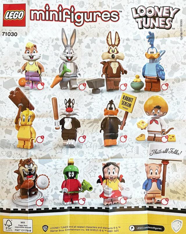 LEGO 71030 Looney Tunes CMF leaflet