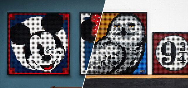 LEGO Art : des instructions alternatives pour les tableaux 31201 Harry Potter et 31202 Mickey Mouse