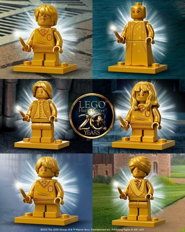 LEGO Harry Potter 2021 golden minifigures