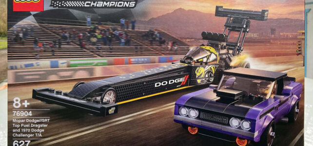LEGO Speed Champions 76904 Mopar Dodge//SRT Top Fuel Dragster and 1970 Dodge Challenger T/A