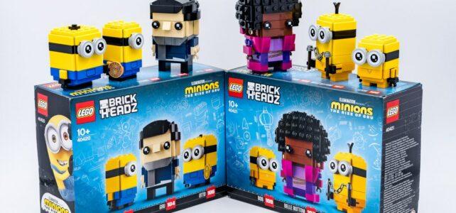 REVIEW LEGO BrickHeadz Minions 40420 40421