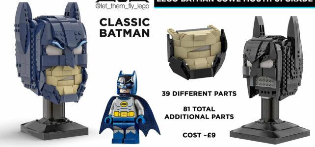 LEGO 76182 Batman Cowl : un MOD avec le bas du visage