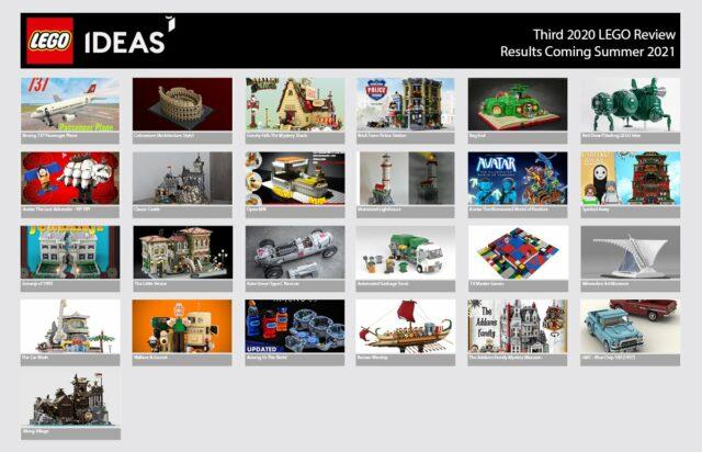 LEGO Ideas 2020 third review phase