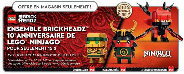 LEGO BrickHeadz 40490 Ninjago 10th Anniversary